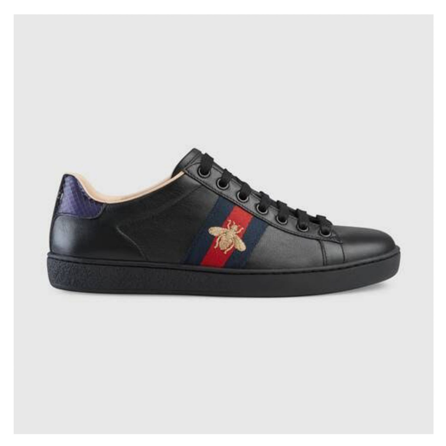 Gucci Shoes Black - Ace bee embroidered