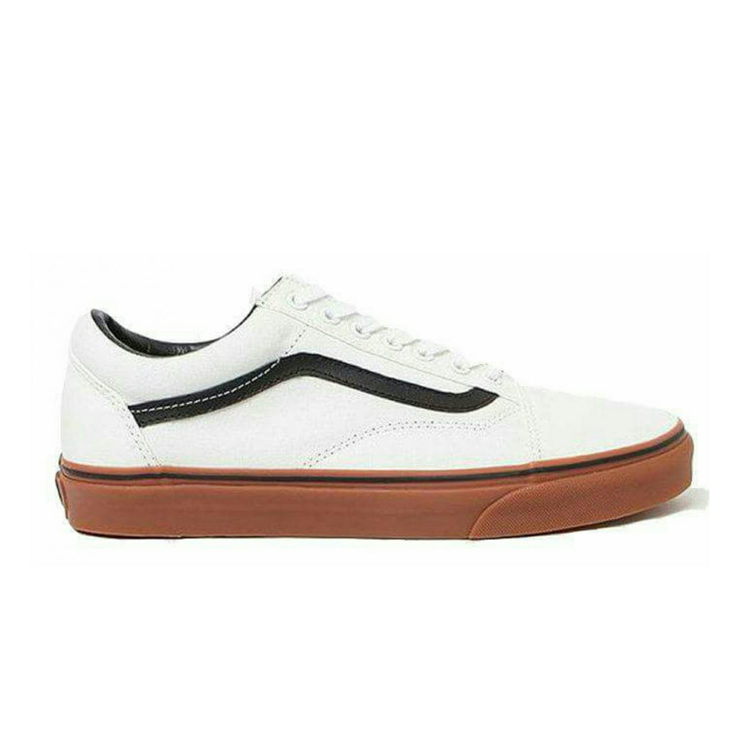 Vans Old Skool White black Gum Sole  Dot Prefect ( Premium Quality)  4a82d540d